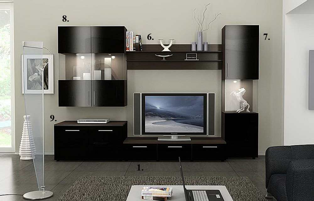 Living Room Furniture Wall Units Collection Glamorous Alfredo Tv Stand Collection  Wall Units Review