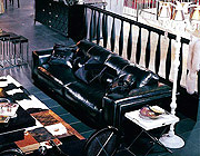 Sofa Set Leather Black VG001