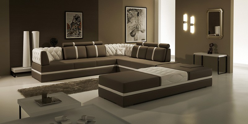 best sneakers f350f 02b0d Modern Leather Sectional Sofa - Lidia | Leather Sectionals