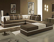 Modern Leather Sectional Sofa - Lidia