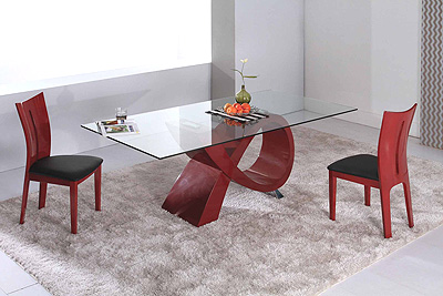 Alfa Dining Table Red CR