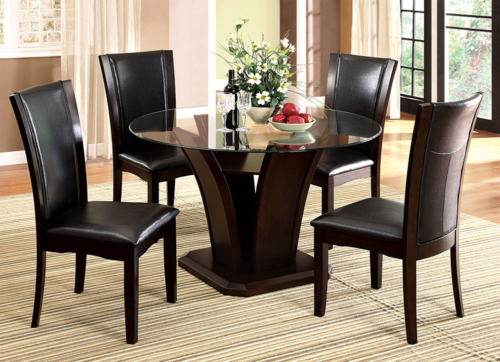 dining table black transitional dining table