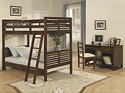 Medium Cherry Bunk Bedroom Set HE348
