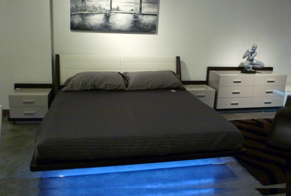 modern led bedroom set rivera