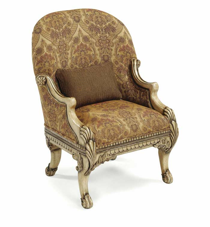 Wonderful BT 058 Italian Baroque Accent Chair In Cream Finish