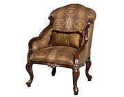 BT 063 Bronze patterned Mahogany Accent Chair