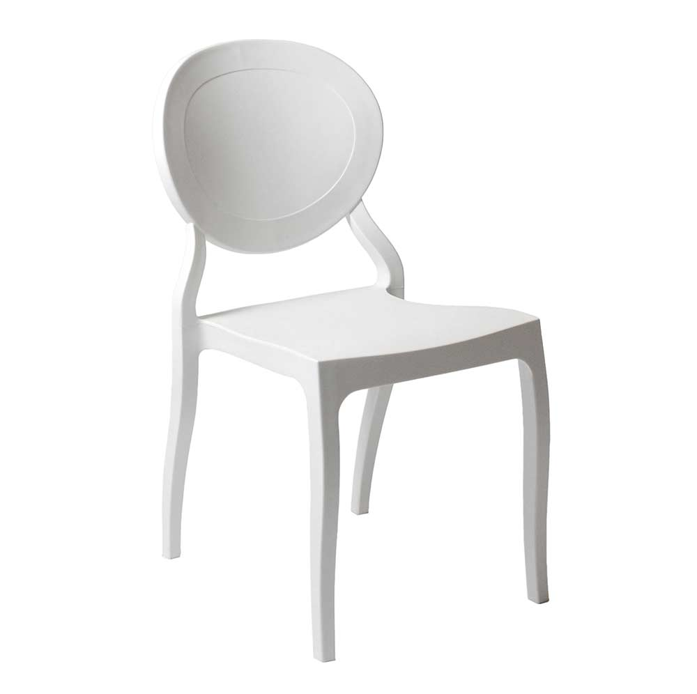modern stackable chair white estyle 701 modern chairs