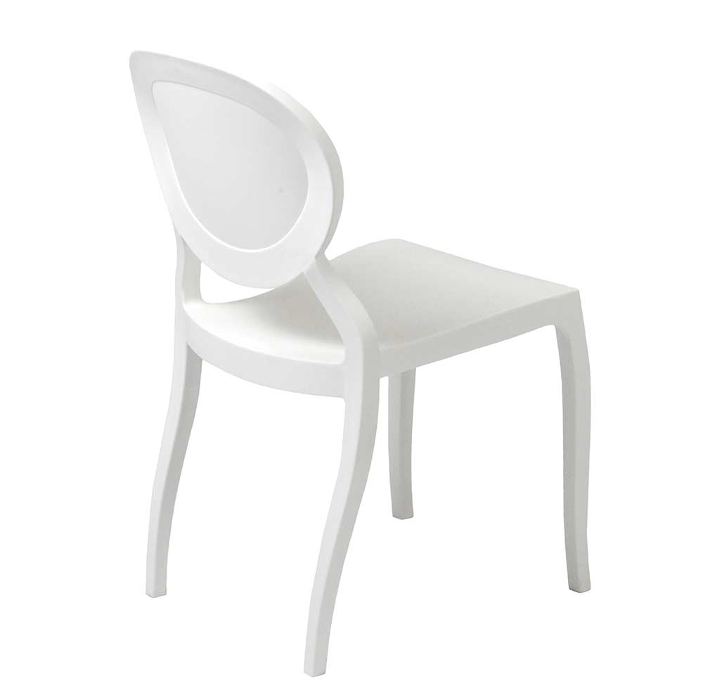 ... Modern Stackable Chair White EStyle 701 ...
