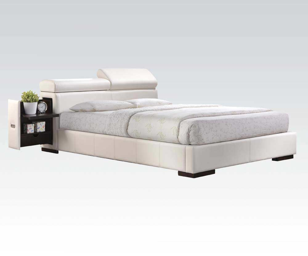 White Platform Bed Nina Ac 420 Platform Beds