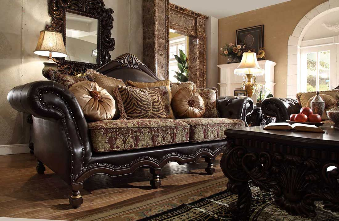 Traditional Fabric Sofa HD 823