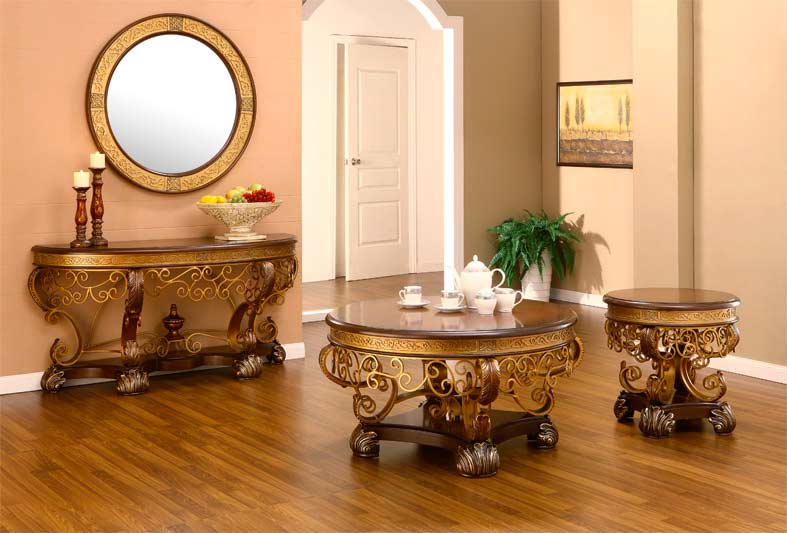 Traditional Gold Coffee Table Hd112 Classic