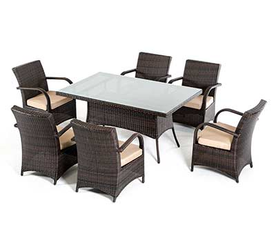 Outdoor Glass top dining set VG498