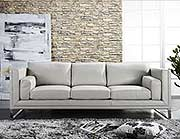 Ash Grey 100% Leather Sofa