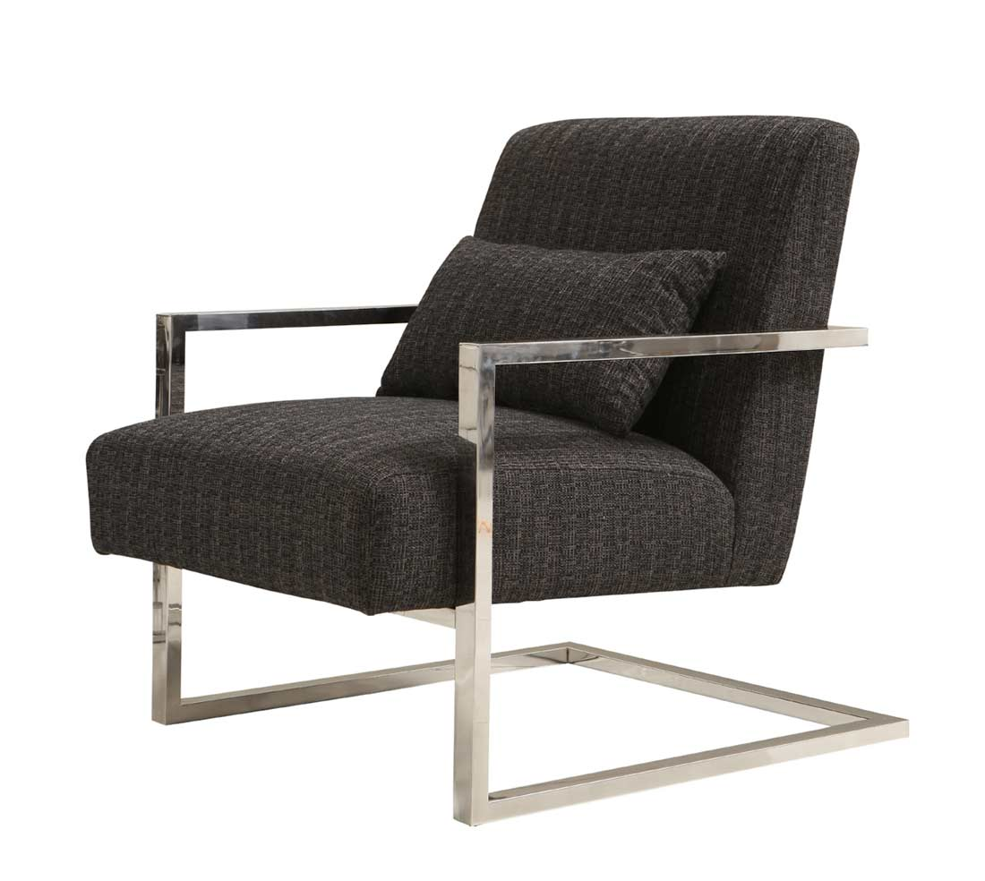 Charcoal fabric accent chair ar461 accent seating for Modern accent chairs