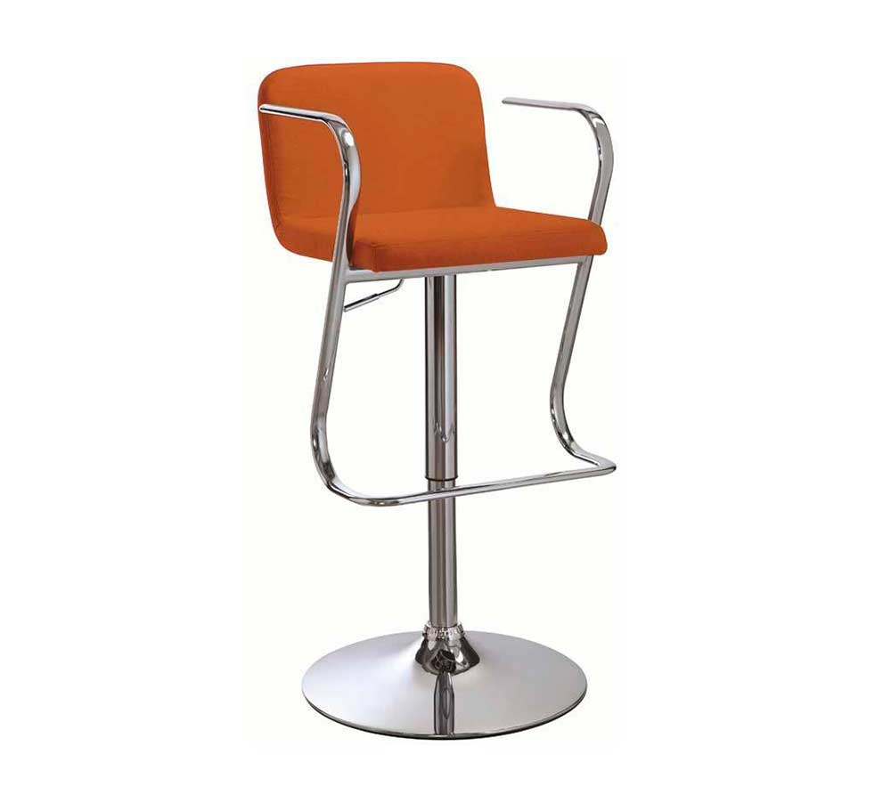 Red Fabric Adjustable Bar Stool Co 093 Bar Stools