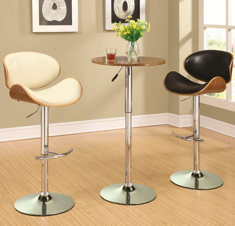Adjustable black bar stool co stools