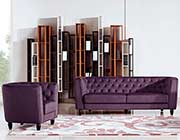 Purple Fabric Sofa DS Belinda