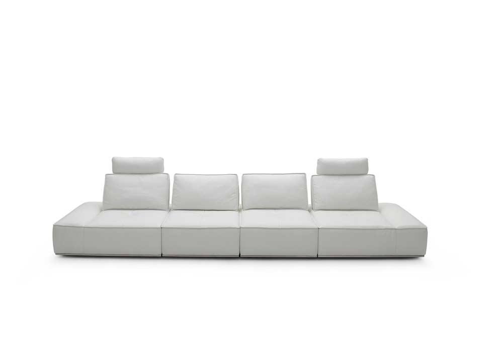 Modular grey sectional sofa nj323 leather sectionals for Modular sofa
