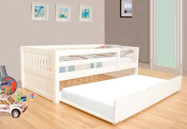 White Twin Day Bed Bm 02 Kids Bedroom