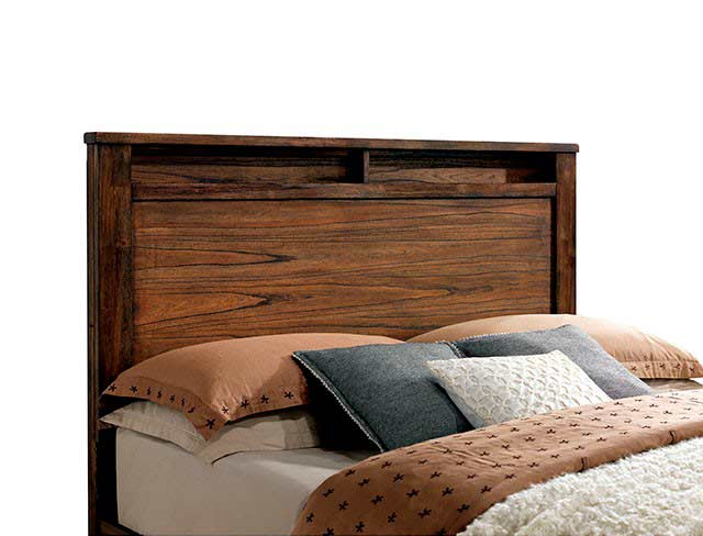 Storage Platform Bed In Oak Finish Fa72 Platform Beds