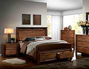 Storage Platform Bed in Oak Finish FA72