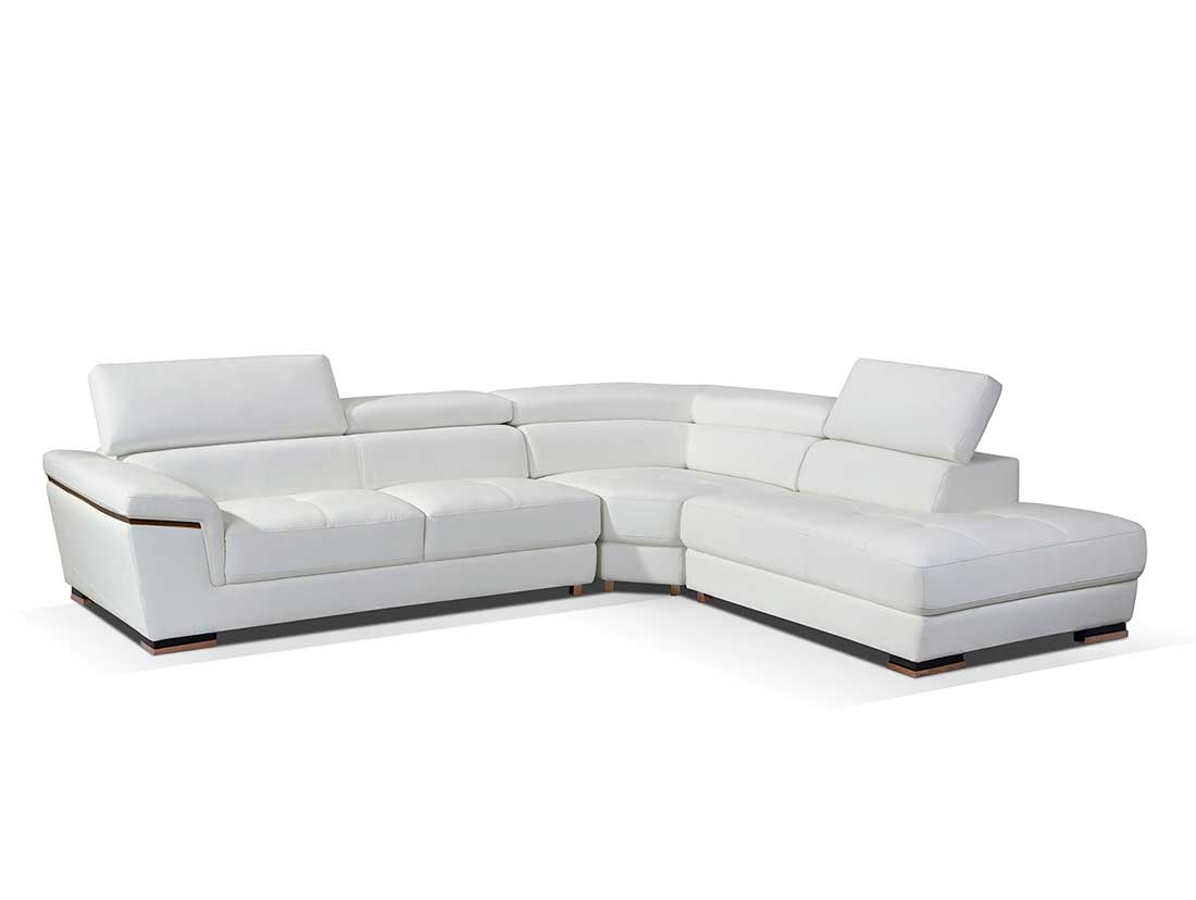 Modern white leather sectional sofa ef383 leather sectionals for Contemporary sectional sofas