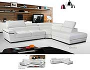 Modern White Leather Sectional Sofa EF383