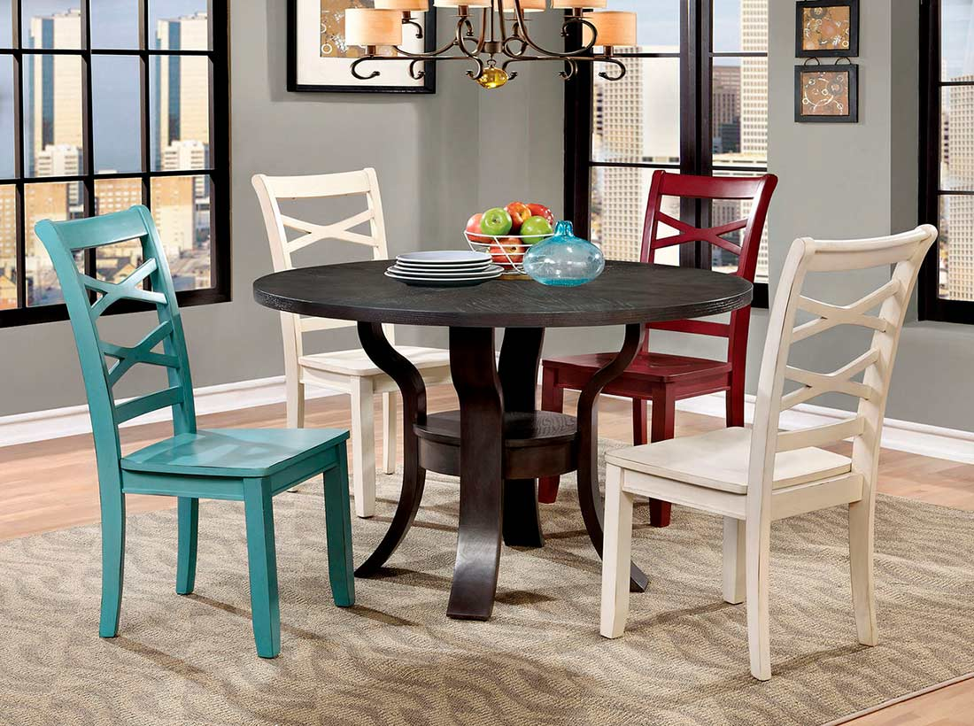 room urban transitional dining transitional round dinin