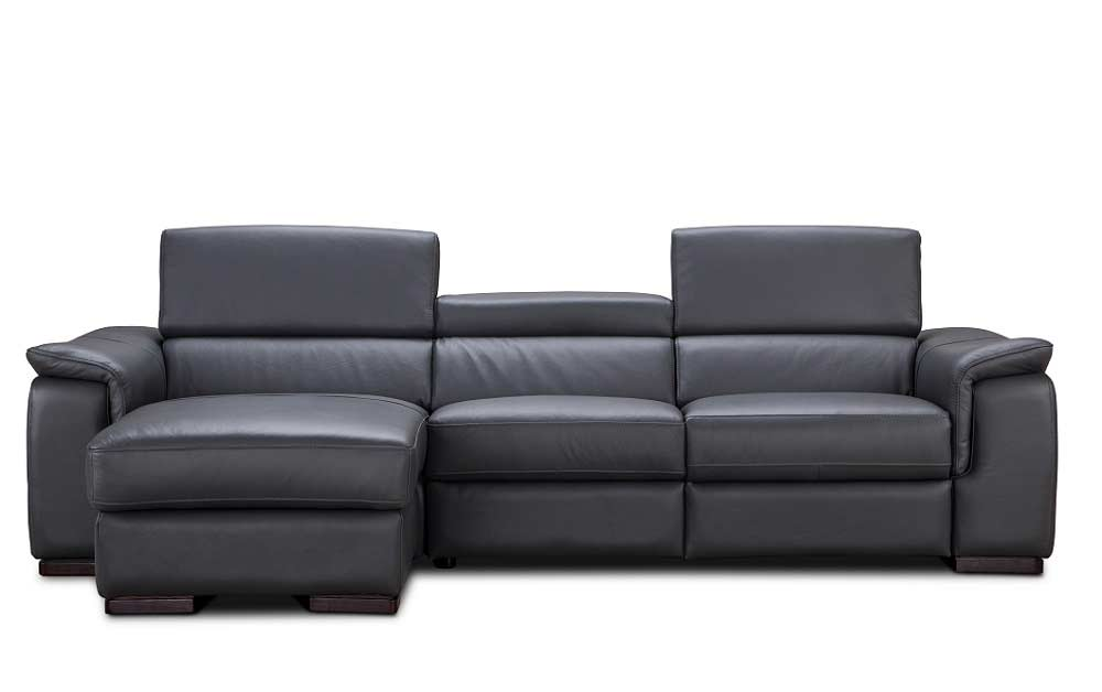 ... Premium Leather Sectional Sofa With Power Recliner NJ Ariana