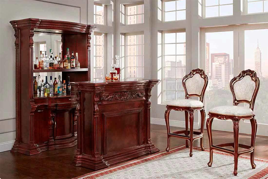 Mahogany French Provincial Bar 9181 Bar