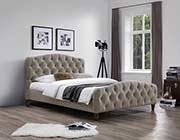 Taupe fabric Bed NJ Andra