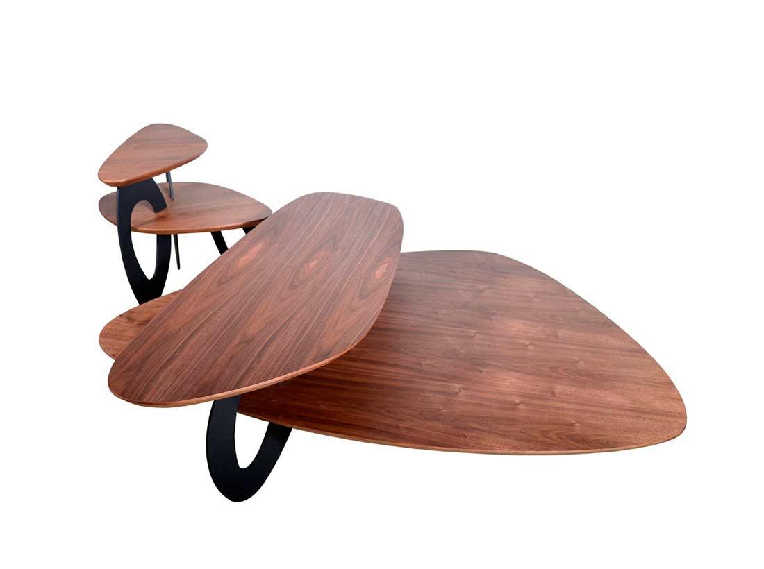 Walnut Veneer Coffee Table Vg667 Contemporary