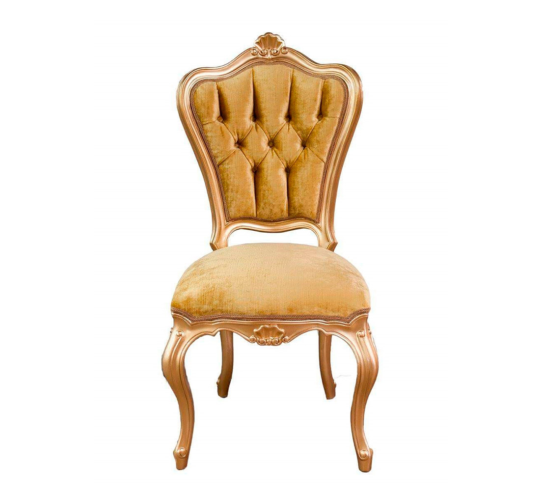 Gold velvet chair