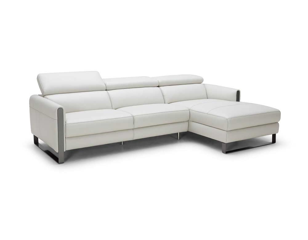 modern leather sectional sofa leather recliner white headrests vella