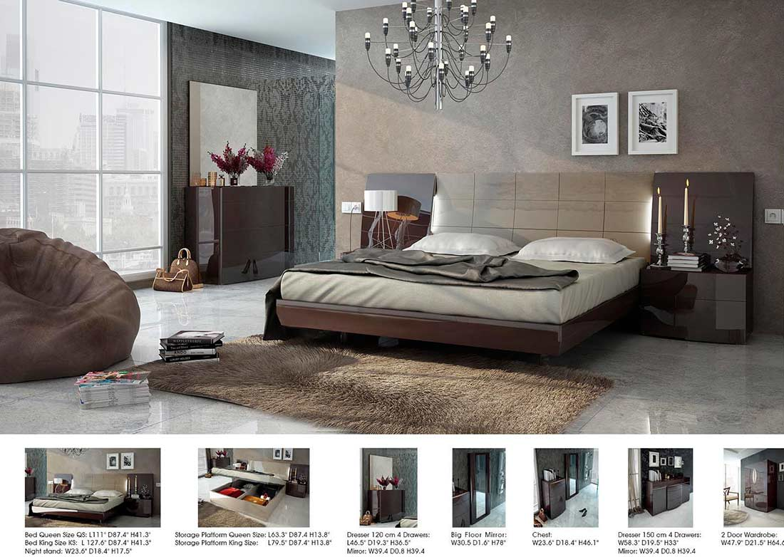 High Gloss Lacquer Bed Ef Madrid
