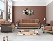 Brown Fabric Sofa Bed Dominique