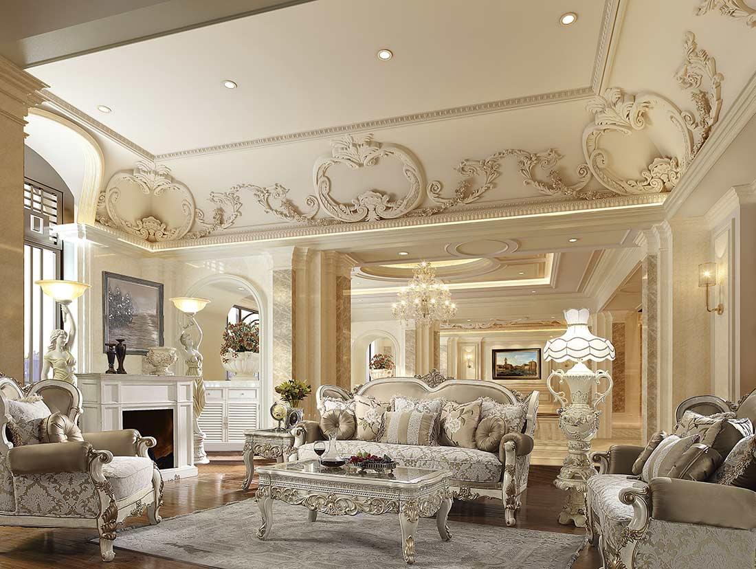 Classic Living room set HD 652 | Traditional Sofas