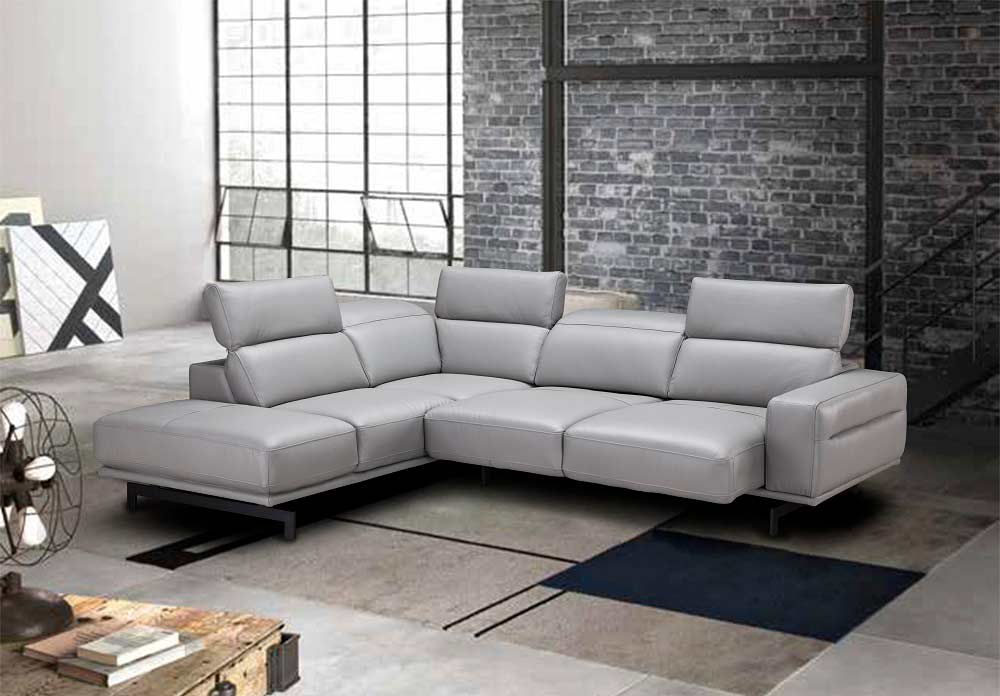 Light Gray Sectional Sofa Nj 981 Leather Sectionals
