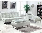 Contemporary White Sofa Bed CO 291