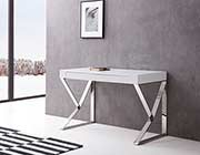 Modern High Gloss White Desk NJ 712