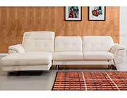 White Italian Leather Sectional Sofa AE 085