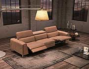 Taupe Leather Sofa Sectional NJ Magia