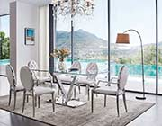 Glass Table with Elegant chairs chairs ESF Z8