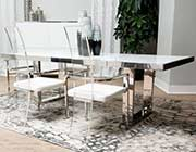 State St Glossy White Dining Table by AICO