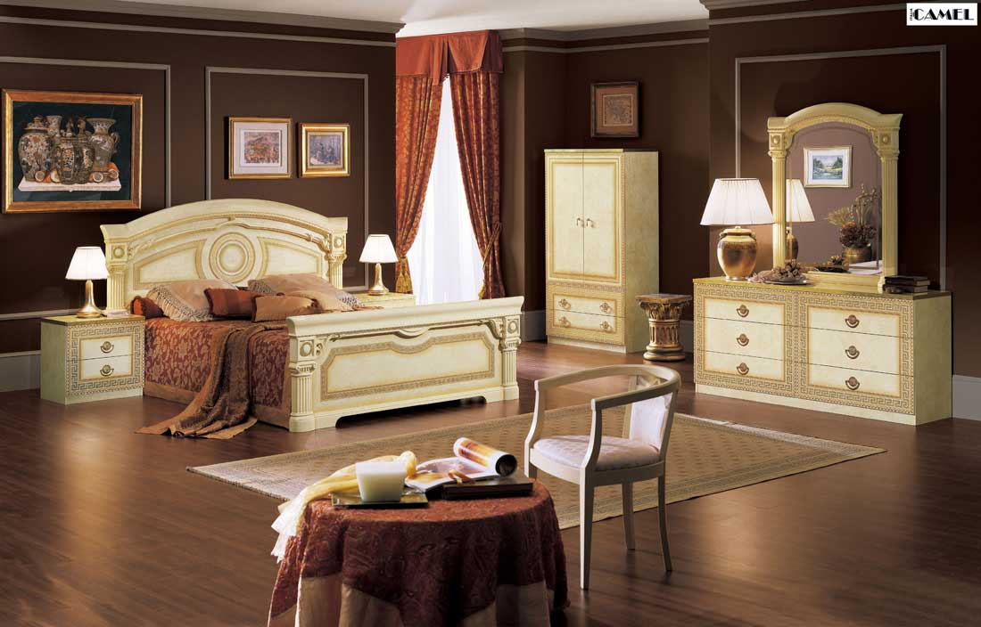 Aida Italian Bed Classic Bedroom