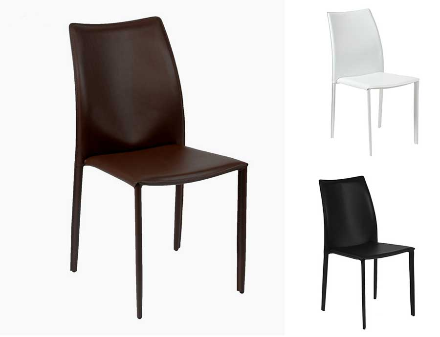 Dalia Leather Stacking Chair Modern Chairs