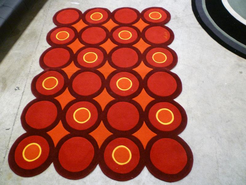 custom rug orange design rugs