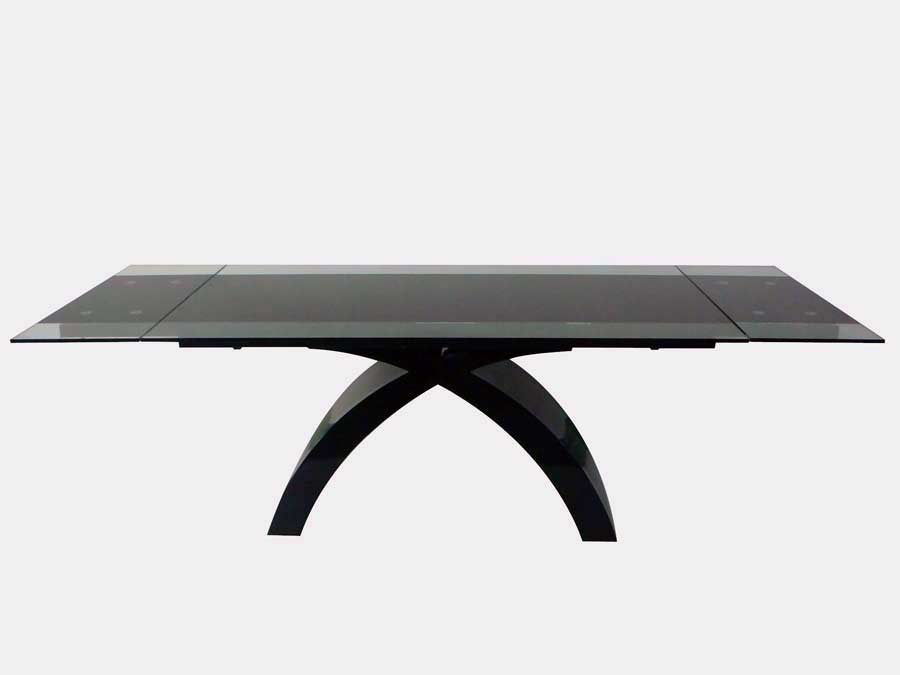 room modern dining cr216 glass top dining table with ex