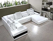 Modern Contemporary Leather Sectional Sofa 324