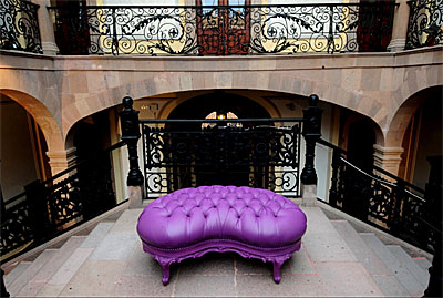 Purple Ottoman Provincial Glamour 645 Accent Seating